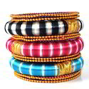 Indian Handcraft Newest Products Silk Thread Bangles Set