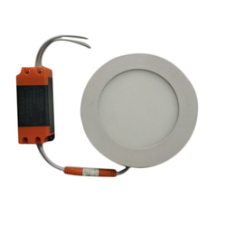 White Diecast Aluminium 6W LED Round Panel Light, For Indoor