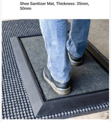 Footwear Sanitizer Mat