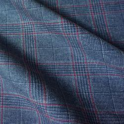 Poly Viscose Check Suiting Fabric