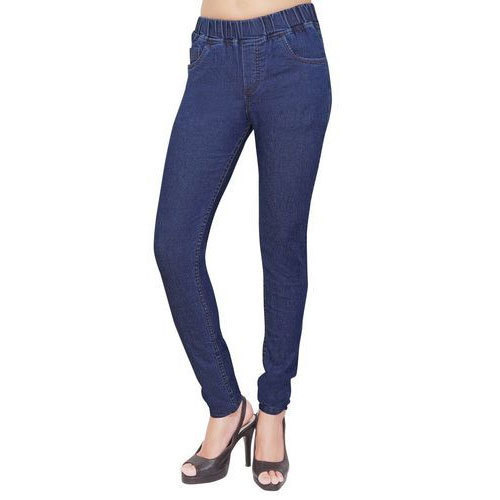 156ca3382b Women  s Cotton Lycra Navy Blue Jegging