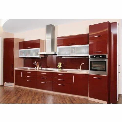 Red Modular Kitchen Modular Kitchen Om Sai Distributor Lucknow