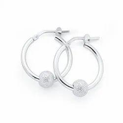 Sterling Silver Earrings, 5-10 Gram, Jewellery Type: Toe Ring
