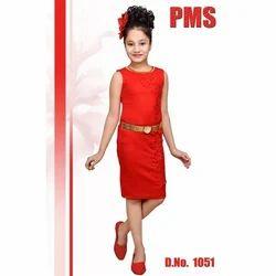 Red Girls Western Dress
