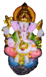 Multicolor Resin God Ganeshji