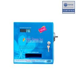 Sanitary Napkin Dispenser With Coin Mechanism