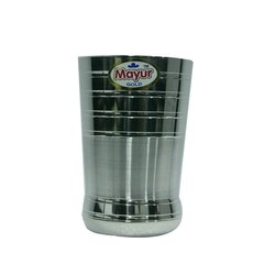 Popkorn Ringer Stainless Steel Drinking Glass