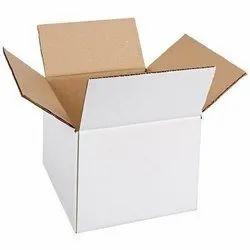 White Cardboard Duplex Carton Boxes, Rectangle