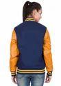 Leather Women Varsity - Navy Gold