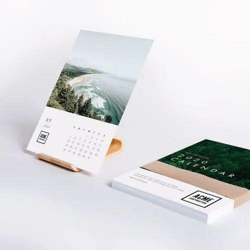 Rectangular Calendar Card, Size: A4