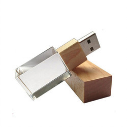 Wooden Crystal Pendrive