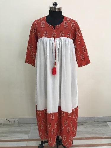 Lavanya Cotton Printed Frill Tunic Kurti
