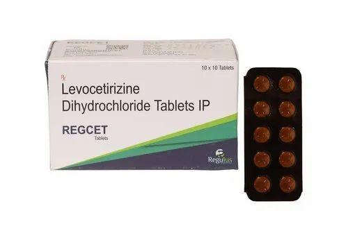 Levocetirizine Tablet, Regulus Pharmaceuticals, Packaging Size: 10x10 Tablets
