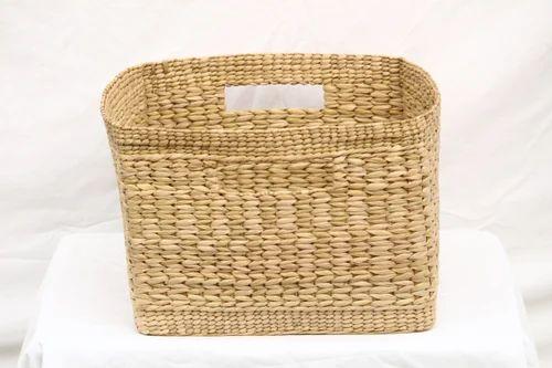 Pawan Emporium Sea Grass Square Storage Basket  14.5 X 14.5 X 2