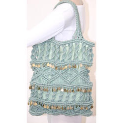Light Blue Handmade Hand Bag