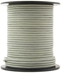 Gray Round Leather Cord