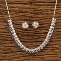 Brass Rose Gold Plated Classic Necklace Set 400431
