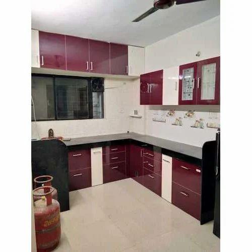 Plywood L Shape Designer Modular Kitchen, Rs 25000 /unit
