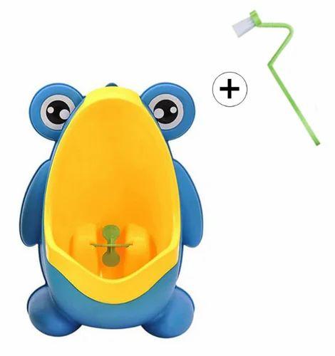 Blue, Yellow Male Baby Boy Pee Training - Potty Seat