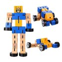 Twist Puzzle Robot Car Wooden Toy, Packaging Type: Packet