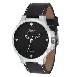 Jainx Slim Black Analog Watch for Men & Boys JM216