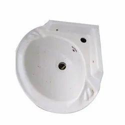 White Corner Ceramic Wash Basin