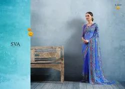 Printed Silk Ethnic Saree with 5.5 m Separate Blouse Piece