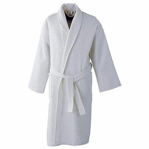 White cotton waffle bathrobe piece nyalchand sons jpg 500x500 White waffle  bathrobe e83825af9
