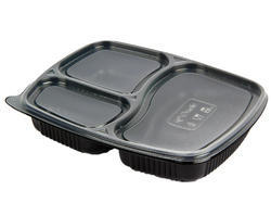 3 Compartments Disposable Plastic Tray