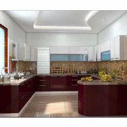 Residential G Shaped Modular Kitchen, Warranty: 5-10 Years