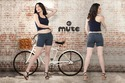 Mute Available In Black And Blue Ladies Denim Shorts, Size: Available Sizes In 28 To 40