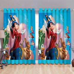 Cartoon Printed Digital Curtain