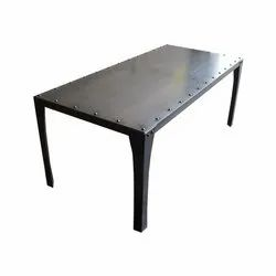 Polished Metal Dining Table, For Home