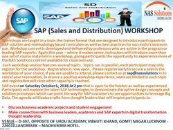 Career Oriented Sap SD Technical Workshop