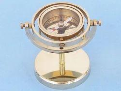 Nautical Gimbaled Desk Stand Compass