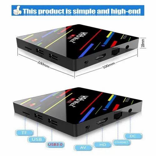 WZATCO H96 MAX TV Box 4GB RAM 64GB