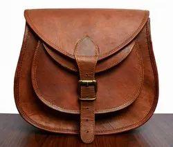 Unisex Vintage Look Genuine Leather Sling Bag