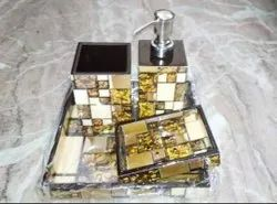 New Smooth Wooden Resin Bathroom Set, Quantity Per Pack: 4