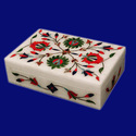 Designer Marble Inlay Jewellery Box