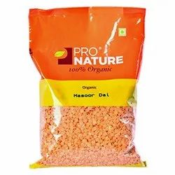 Pro Nature Masoor Dal, Organic, Packaging Size: 500 g
