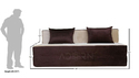 Adorn India Easy 3 Seater Sofa Cumbed (brown & Gold)