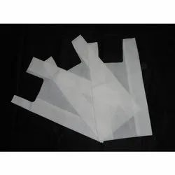 White Plain Non Woven U Cut Bag