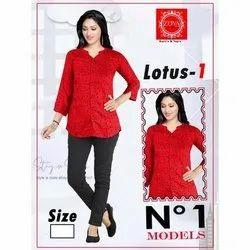 Women Red Printed Shirt