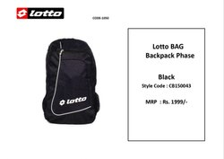 Polyester Black Lotto Laptop Bag CB150034