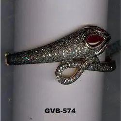 Real Snake Diamond Bangle