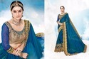 Georgette Embroidered Designer Party Wear Saree, With Blouse Piece, 5.5 M (separate Blouse Piece)