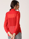Female Red Solid Shirt