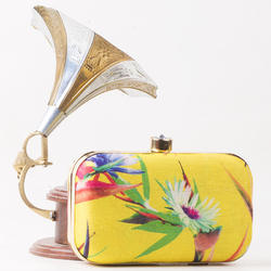 Yellow Ladies Clutch Bag