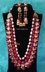Gold Color Satyam Jewellery Nx Artificial Necklace Set
