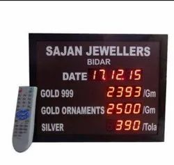 Jewellery Rate Display Board